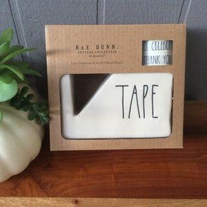 Rae Dunn Tape Dispenser & Set of 2 Washi Tape NEW